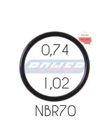 Oring 0,74 na 1,02 NBR wykonany z NBR