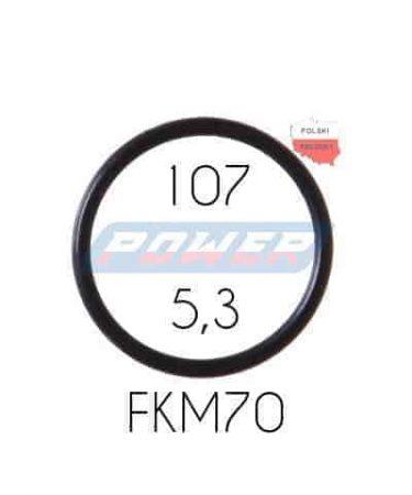 Oring 107 na 5,3 FKM wykonany z FKM