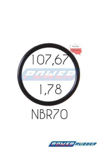 Oring 107,67 na 1,78 NBR wykonany z NBR