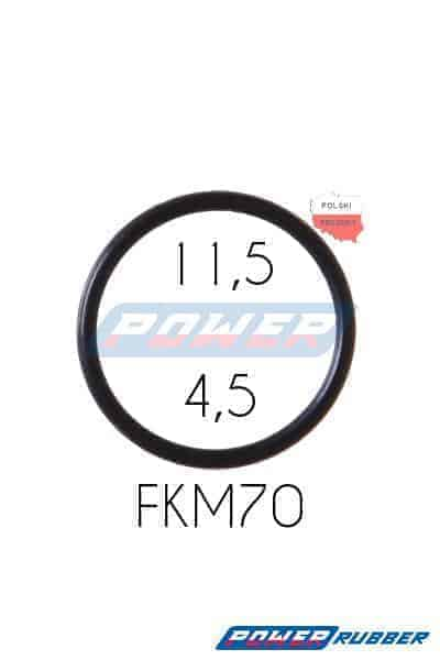 Oring 11,5 na 4,5 FKM wykonany z FKM