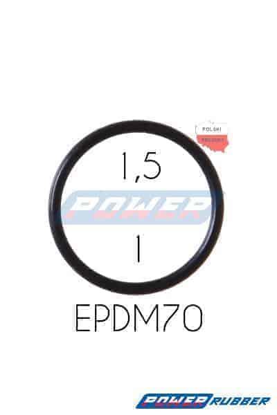 Oring 1,5 na 1 EPDM wykonany z EPDM