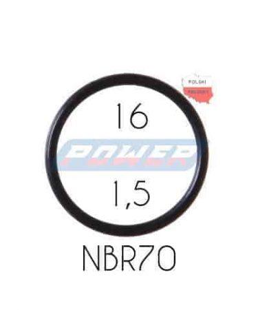 Oring 16 na 1,5 NBR wykonany z NBR