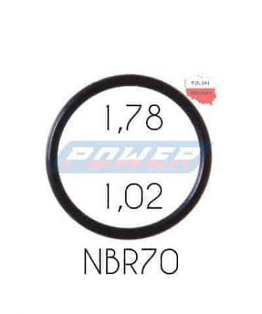 Oring 1,78 na 1,02 NBR wykonany z NBR
