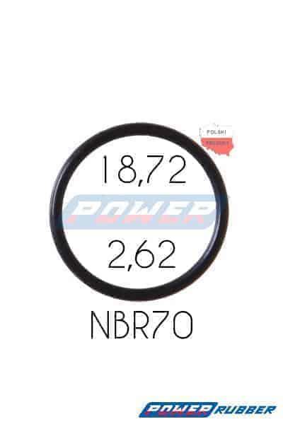 Oring 18,72 na 2,62 NBR wykonany z NBR