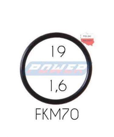 Oring 19 na 1,6 FKM wykonany z FKM