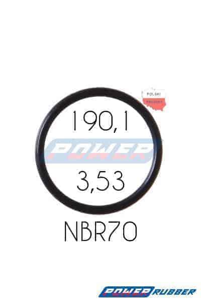 Oring 190,1 na 3,53 NBR wykonany z NBR