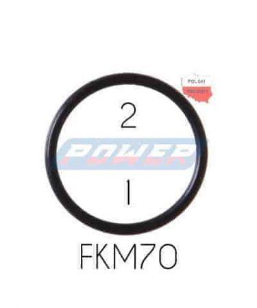 Oring 2 na 1 FKM wykonany z FKM