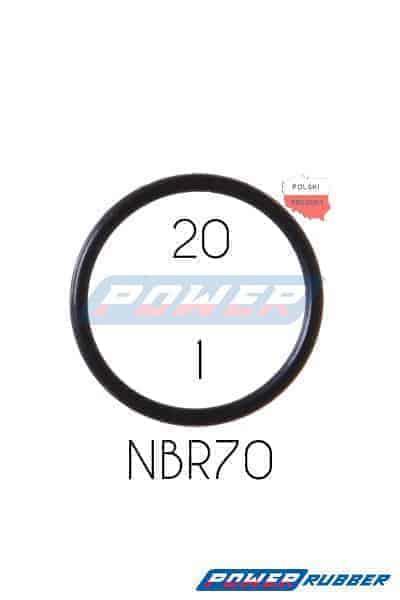 Oring 20 na 1 NBR wykonany z NBR