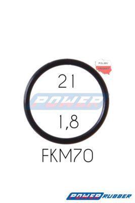 Oring 21 na 1,8 FKM wykonany z FKM