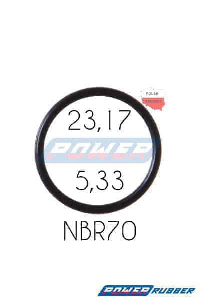 Oring 23,17 na 5,33 NBR wykonany z NBR