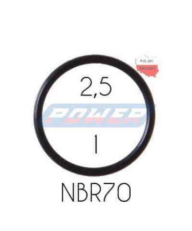 Oring 2,5 na 1 NBR wykonany z NBR