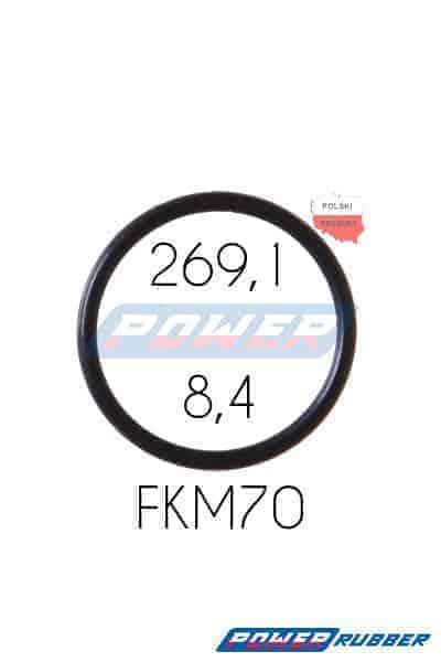 Oring 269,1 na 8,4 FKM wykonany z FKM