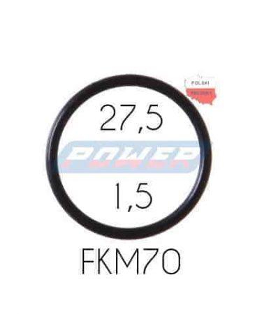 Oring 27,5 na 1,5 FKM wykonany z FKM