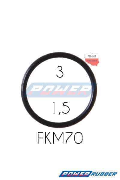 Oring 3 na 1,5 FKM wykonany z FKM