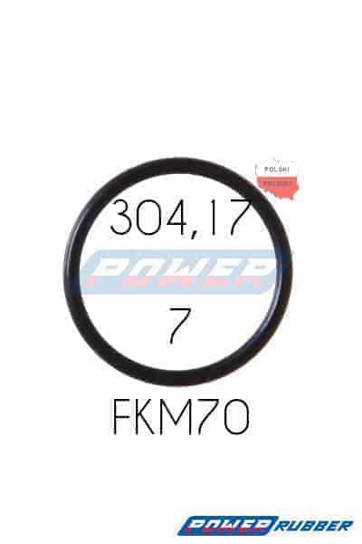 Oring 304,17 na 7 FKM wykonany z FKM