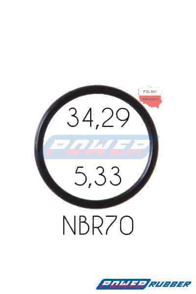 Oring 34,29 na 5,33 NBR wykonany z NBR
