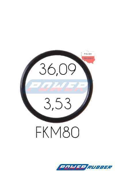 Oring 36,09 na 3,53 FKM wykonany z FKM