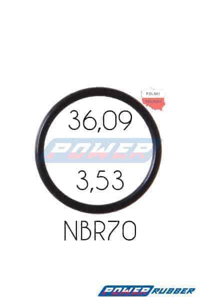Oring 36,09 na 3,53 NBR wykonany z NBR