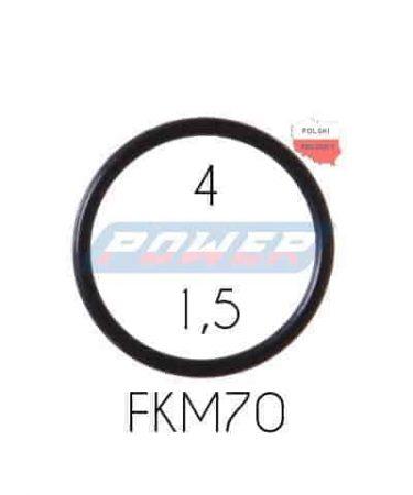 Oring 4 na 1,5 FKM wykonany z FKM