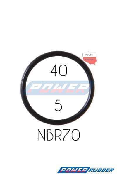 Oring 40 na 5 NBR wykonany z NBR