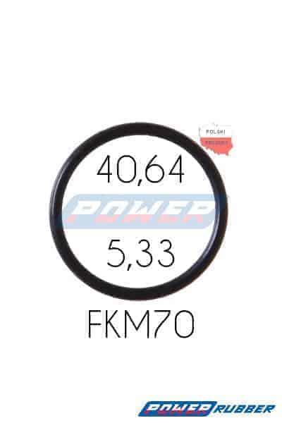Oring 40,64 na 5,33 FKM wykonany z FKM