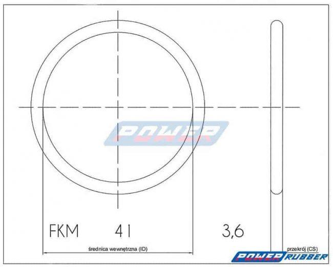 Oring 41 na 3,6 FKM wykonany z FKM