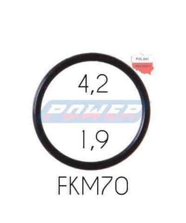 Oring 4,2 na 1,9 FKM wykonany z FKM