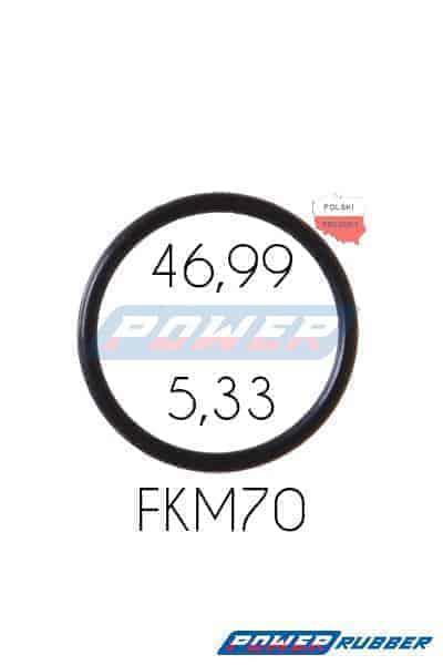 Oring 46,99 na 5,33 FKM wykonany z FKM