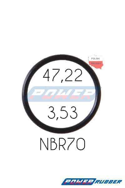 Oring 47,22 na 3,53 NBR wykonany z NBR
