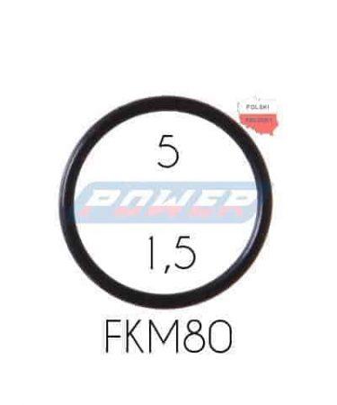 Oring 5 na 1,5 FKM wykonany z FKM