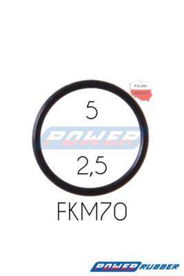 Oring 5 na 2,5 FKM wykonany z FKM