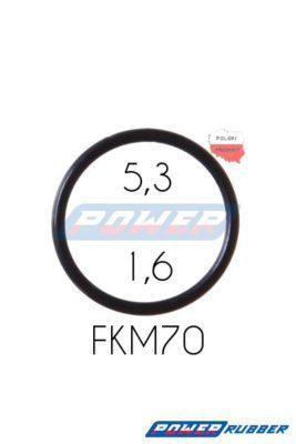 Oring 5,3 na 1,6 FKM wykonany z FKM