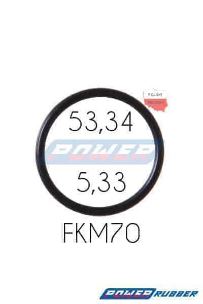 Oring 53,34 na 5,33 FKM wykonany z FKM