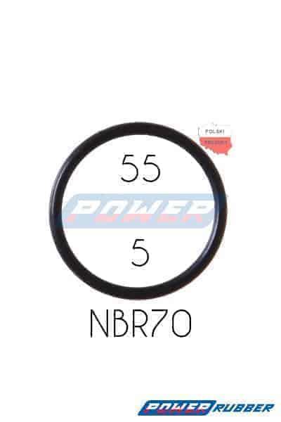 Oring 55 na 5 NBR wykonany z NBR