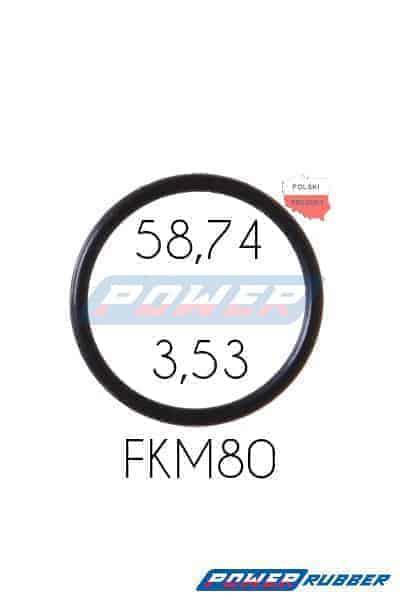 Oring 58,74 na 3,53 FKM wykonany z FKM