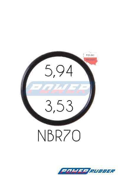 Oring 5,94 na 3,53 NBR wykonany z NBR