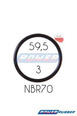 Oring 59,5 na 3 NBR wykonany z NBR