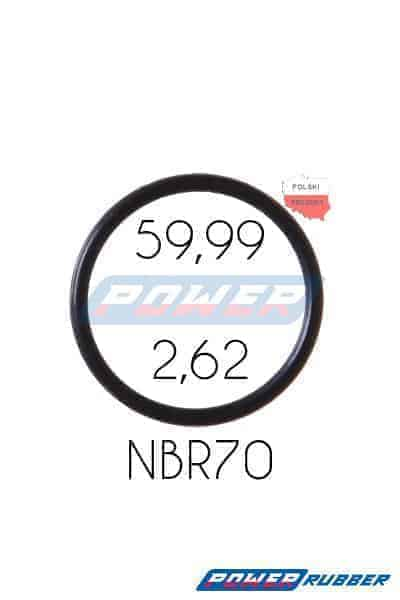 Oring 59,99 na 2,62 NBR wykonany z NBR