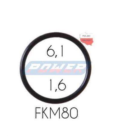Oring 6,1 na 1,6 FKM wykonany z FKM