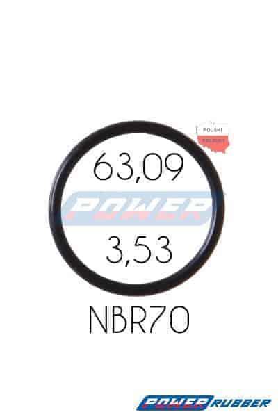 Oring 63,09 na 3,53 NBR wykonany z NBR
