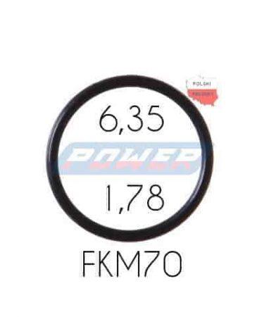 Oring 6,35 na 1,78 FKM wykonany z FKM