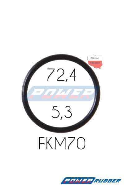 Oring 72,4 na 5,3 FKM wykonany z FKM