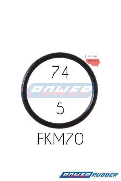 Oring 74 na 5 FKM wykonany z FKM