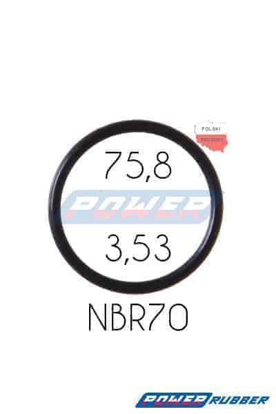 Oring 75,8 na 3,53 NBR wykonany z NBR