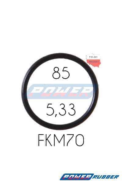 Oring 85 na 5,33 FKM wykonany z FKM