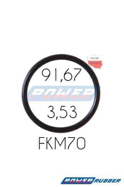 Oring 91,67 na 3,53 FKM wykonany z FKM