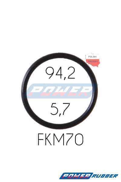 Oring 94,2 na 5,7 FKM wykonany z FKM