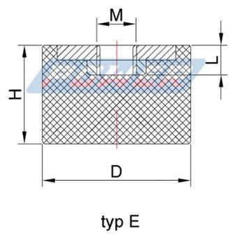 wibroizolator typ e typ 5