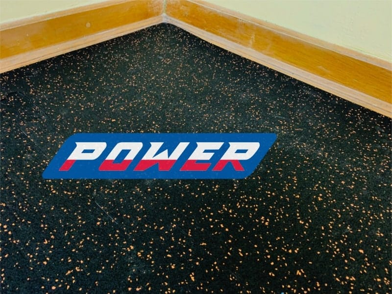rubber surface for the gym